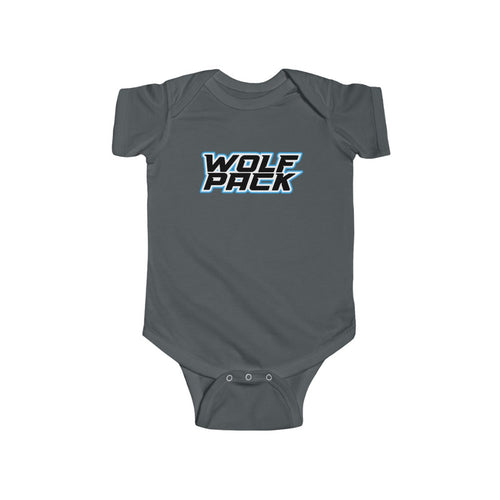 Infant Fine Jersey Bodysuit- WOLF PACK