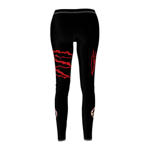 Women's Cut & Sew Casual Leggings - Raptors blk