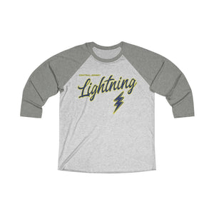 Unisex Tri-Blend 3/4 Raglan Tee - Lightning (15 colors available)