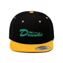 "Flat Bill ""Snapback"" Hat (Font) - Mighty Drunks"
