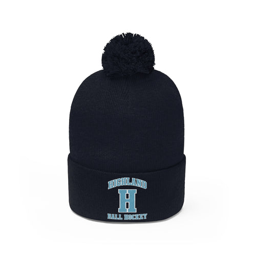 Pom Pom Beanie - (8 colors available)  Highland
