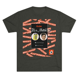 Men's Tri-Blend Crew Soft Tee - Tinderwolves