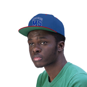 "Flat Bill ""Snapback"" Hat - (6 colors available) - Maple Shade"