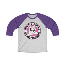Unisex Tri-Blend 3/4 Raglan Tee (15 colors available) - Ducks