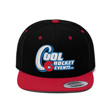 "Flat Bill ""Snapback"" Hat - Cool Hockey  (6 colors available)"