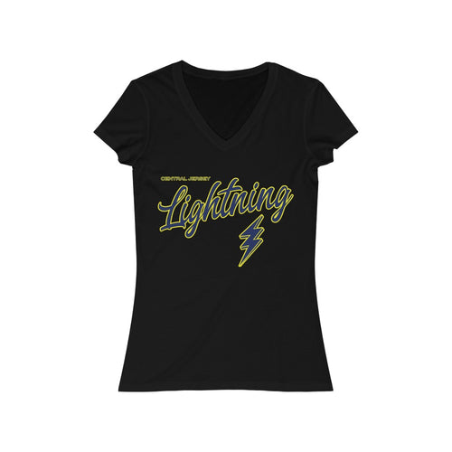 Women's Jersey Short Sleeve V-Neck Tee - Lightning (7 colors available)