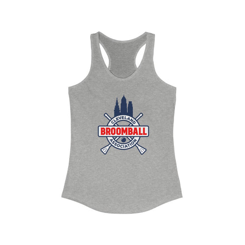 Women's Ideal Racerback Tank - Cleveland Broomball