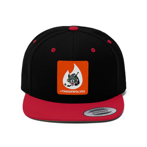 "Flat Bill ""Snapback"" Hat - (6 colors available) -  Tinderwolves"