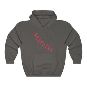 2 SIDED Fan Gear Hoodie - 12 COLOR RED FOXES