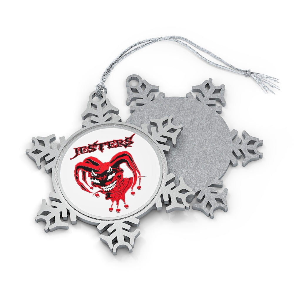 Pewter Snowflake Ornament - Jesters