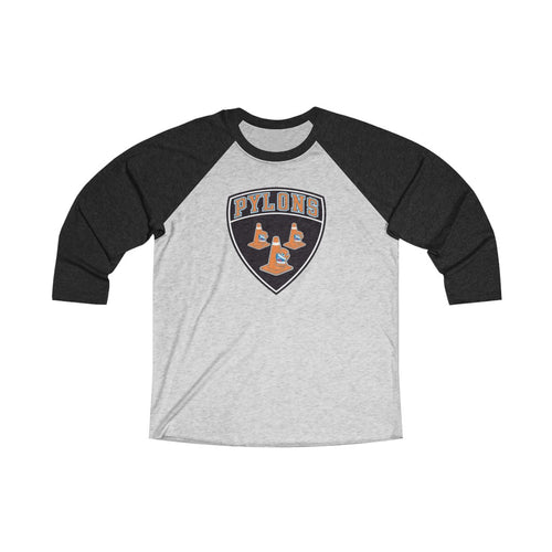 Unisex Tri-Blend 3/4 Raglan Tee - 7 COLORS - PYLONS