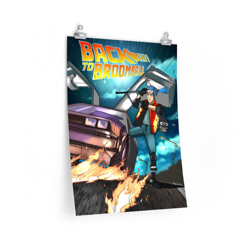 Back to Broomball Premium Matte vertical posters