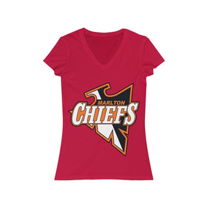 Women's Jersey Short Sleeve V-Neck Tee - MARLTON