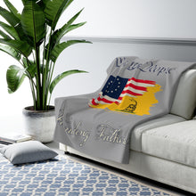 Sherpa Fleece Blanket -  FOUNDING FATHERS