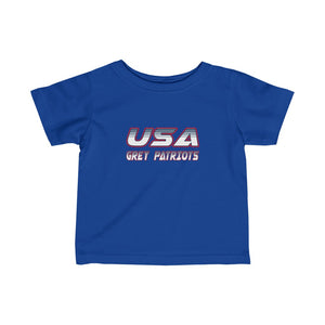 Infant Fine Jersey Tee - 6 COLORS - GREY PATRIOTS