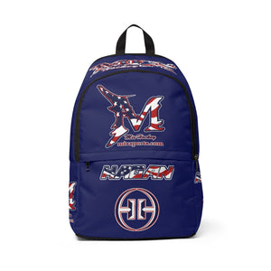 Unisex Fabric Backpack - Mix/Hagan USA bag - Navy