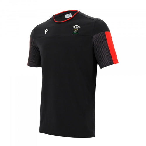 Wales Travel Rugby Shirt Black 2020/2021