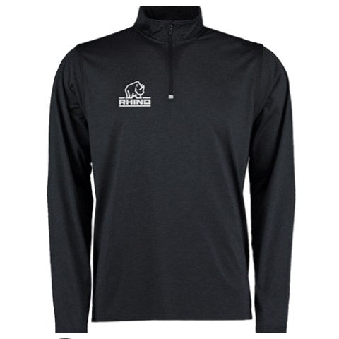 Rhino Hyper 1/4 Zip Lightweight Midlayer Black