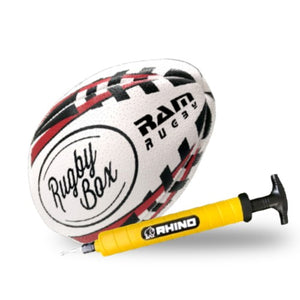 Training Rugby Ball & Ball Pump Bundle