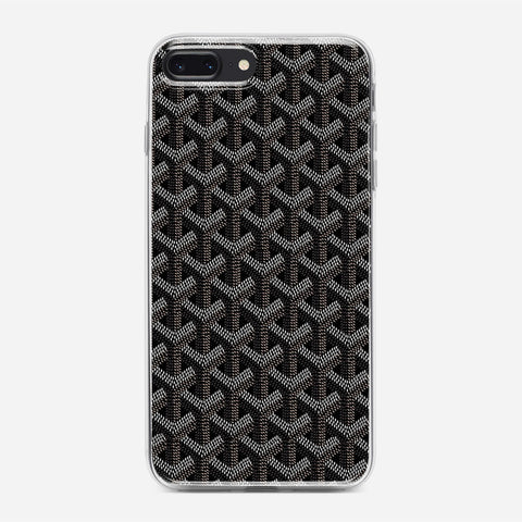 Black Goyard iPhone 8 Plus Case