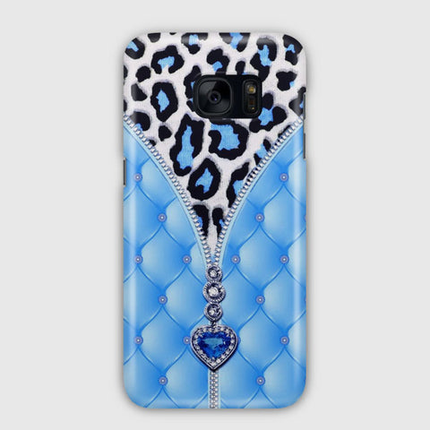 Blue And Diamonds Samsung Galaxy S7 Edge Case