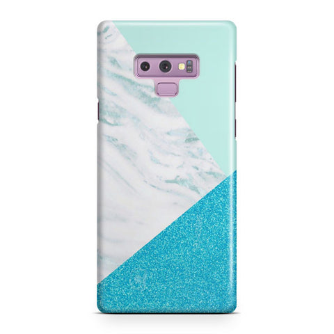 Blue And Green Granite Samsung Galaxy Note 9 Case