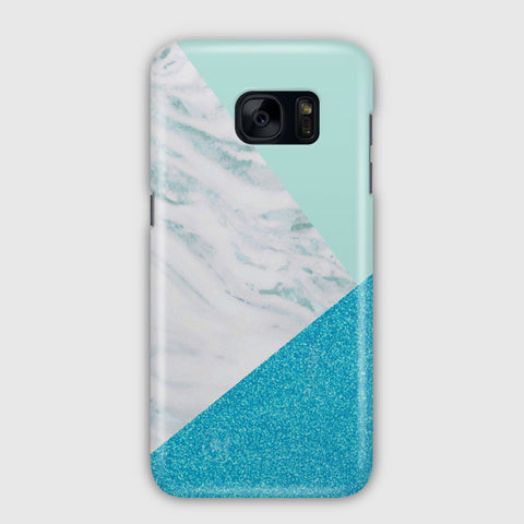 Blue And Green Granite Samsung Galaxy S7 Case