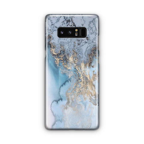 Blue Gold Marble Samsung Galaxy Note 8 Case