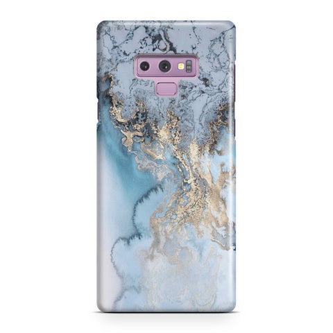 Blue Gold Marble Samsung Galaxy Note 9 Case