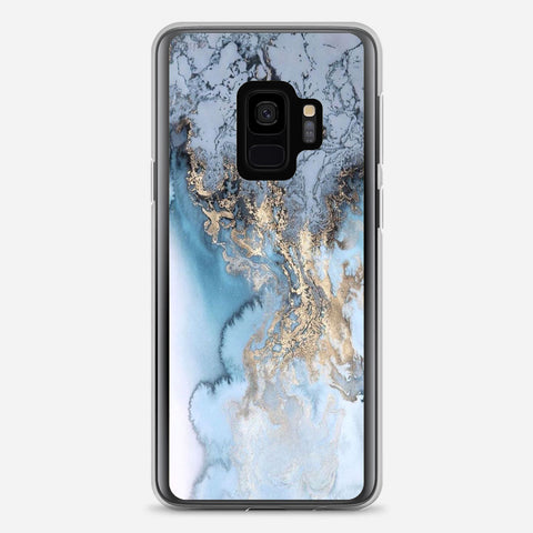 Blue Gold Marble Samsung Galaxy S9 Case