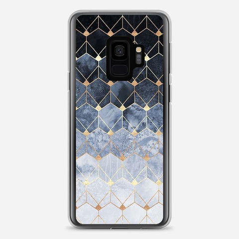 Blue Hexagons Samsung Galaxy S9 Case