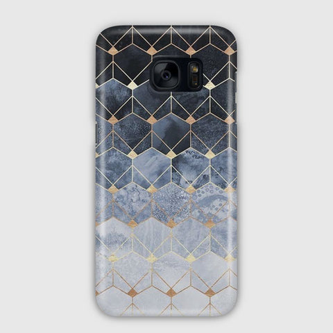Blue Hexagons Samsung Galaxy S7 Case