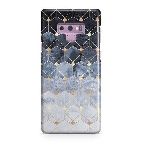 Blue Hexagons Samsung Galaxy Note 9 Case