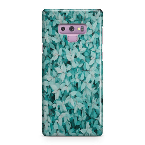 Blue Leaves Samsung Galaxy Note 9 Case
