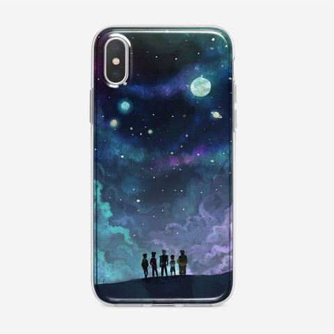 Voltron in Space Nebula iPhone XS Case