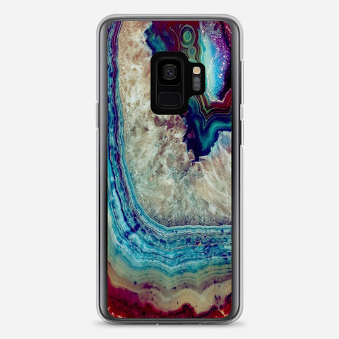 Blue Silver Marble Samsung Galaxy S9 Case