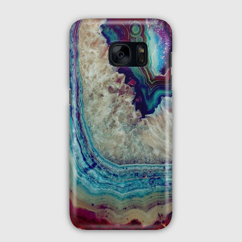 Blue Silver Marble Samsung Galaxy S7 Case