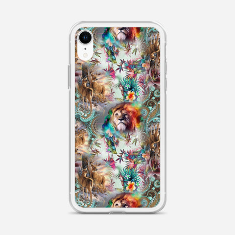 Abstract Lion iPhone XR Case