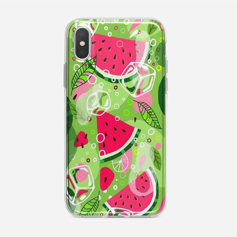 Watermelon Ice Summer Vibe iPhone XS Case