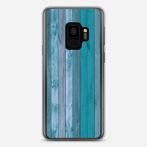 Blue Wood Samsung Galaxy S9 Case