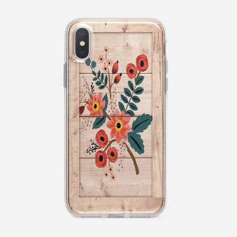 Wooden Floral Art Unique iPhone XS Max Case