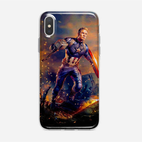 Worthy Captain America Artwork iPhone XS Max Case