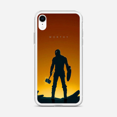 Worthy Captain America Illustration iPhone XR Case