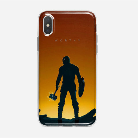 Worthy Captain America Illustration iPhone XS Max Case