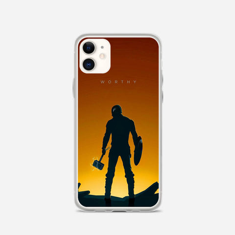Worthy Captain America Illustration iPhone 11 Case