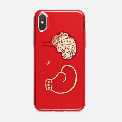 Brain VS Boxing Sport iPhone XS Case