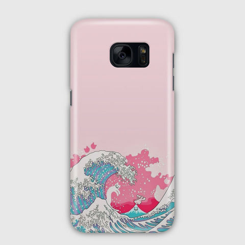 Bright Pink Great Wave Samsung Galaxy S7 Edge Case