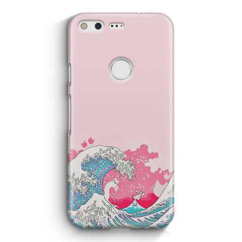 Bright Pink Great Wave Google Pixel XL Case
