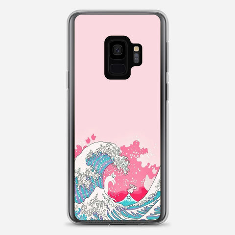 Bright Pink Great Wave Samsung Galaxy S9 Case