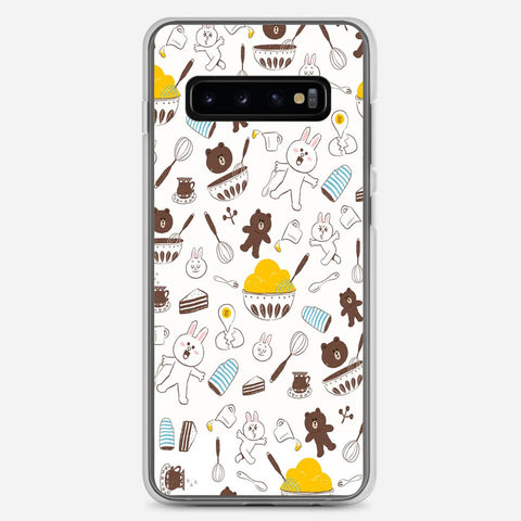 Brown And Cony Samsung Galaxy S10 Plus Case